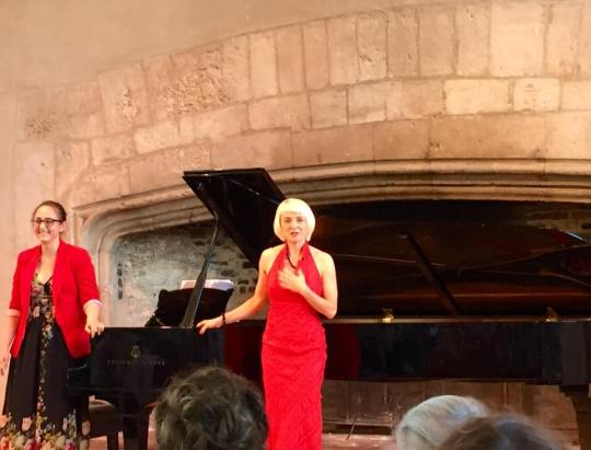 Gillian Keith and Alexandra at Dartington Summer School 2016